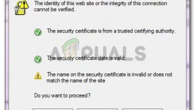 The identity of this web site or the integrity of this connection cannot be verified