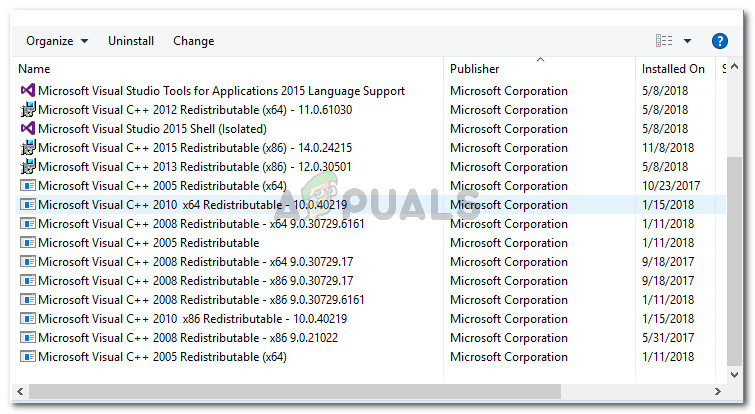 Locating all Microsoft Visual C++ Redistributable packages