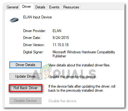 Go to Driver and click on Roll back driver