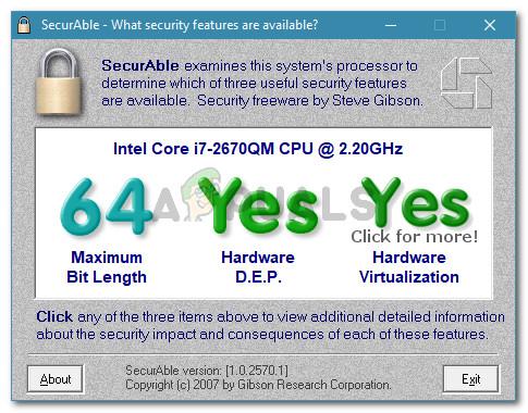 Verifying if the host machine supports hardware virtualization