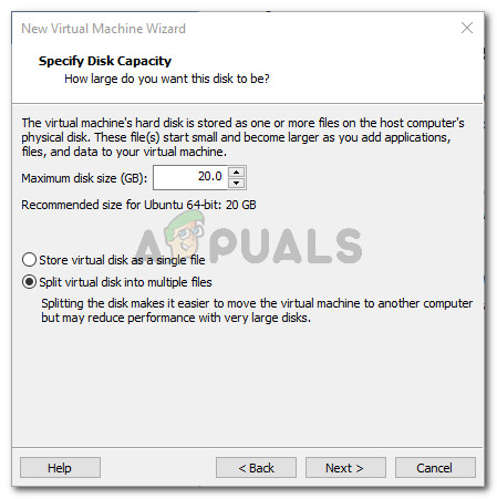 Set the Disk Capacity Settings