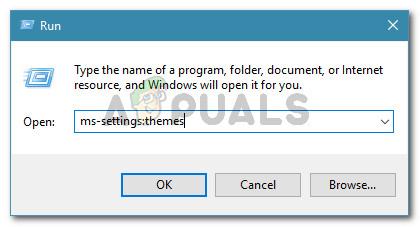 Run dialog: ms-settings:themes