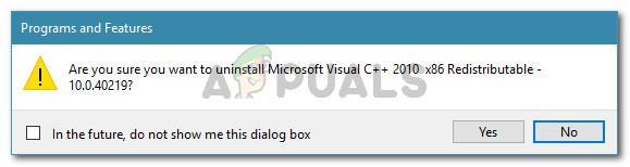 Uninstalling Microsoft Visual C++ redist packages