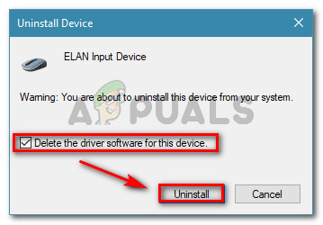 Uninstalling device driver