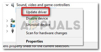 Updating the driver