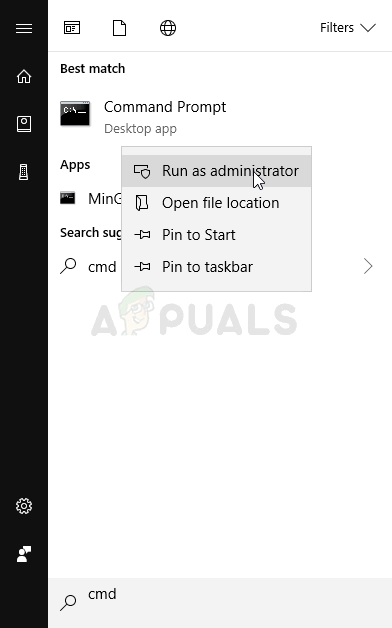 Running Command Prompt as an administrator