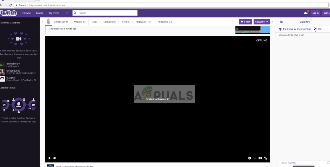 Twitch Black Screen