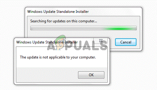 Fix: This Update is not Applicable to your Computer