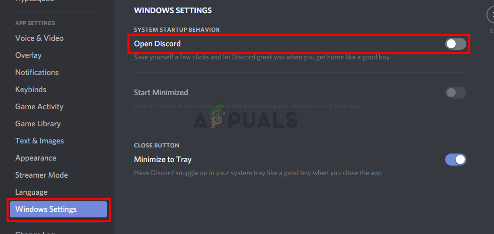 Turn off Discord Auto-start
