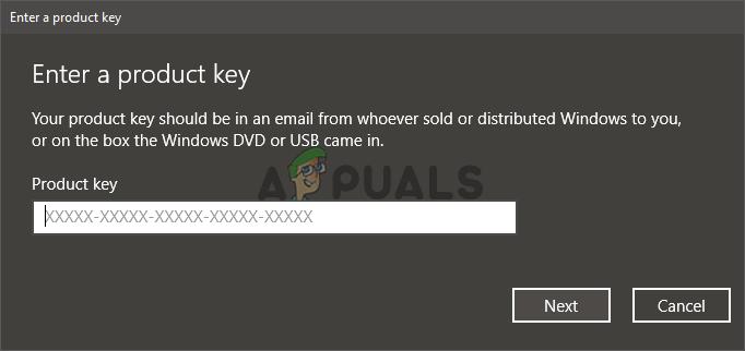 Change product key