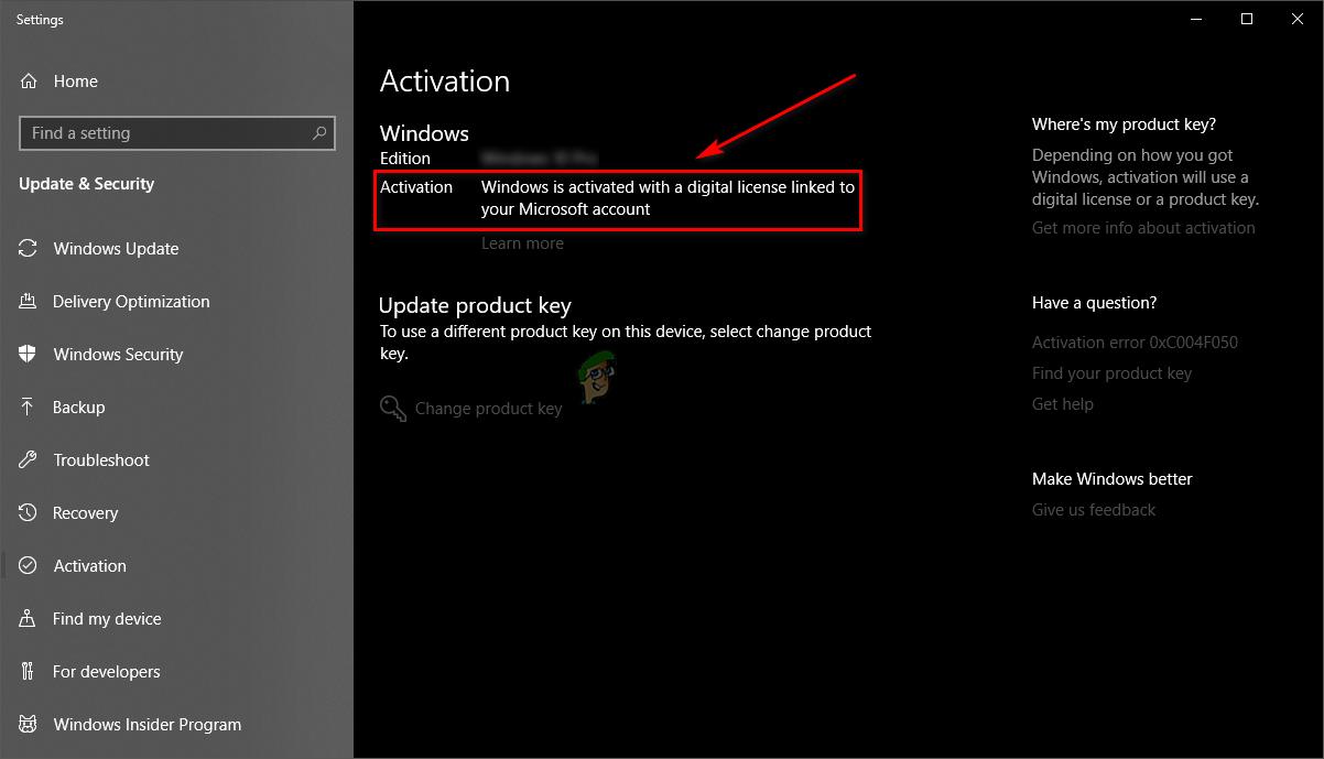 Windows is digitally linked