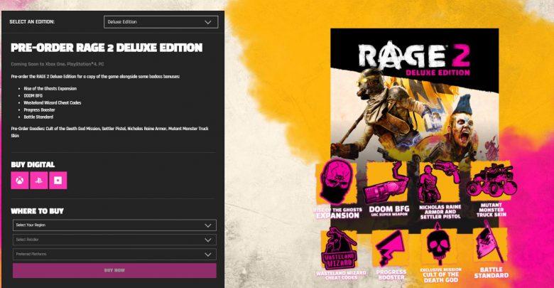 Rage 2 Pre-order