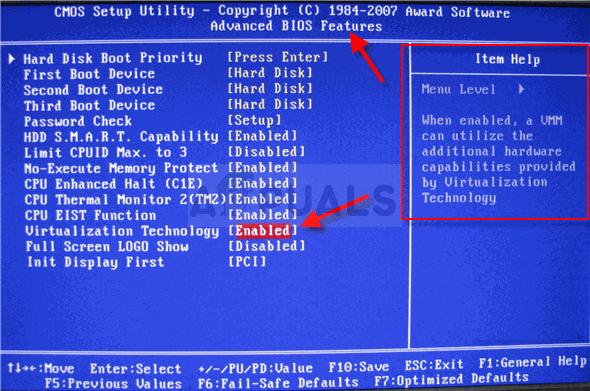 CPU-Virtualisierung im BIOS