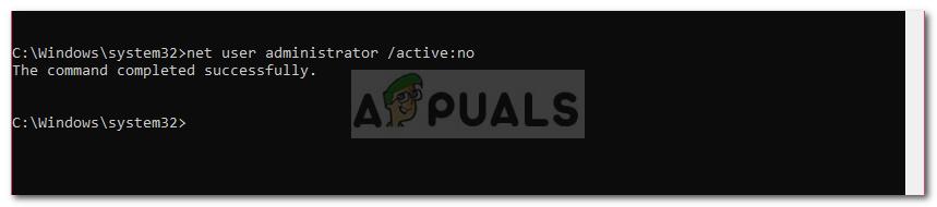 deactivate administrator account