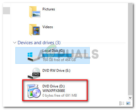Check if the ISO file is already mounted