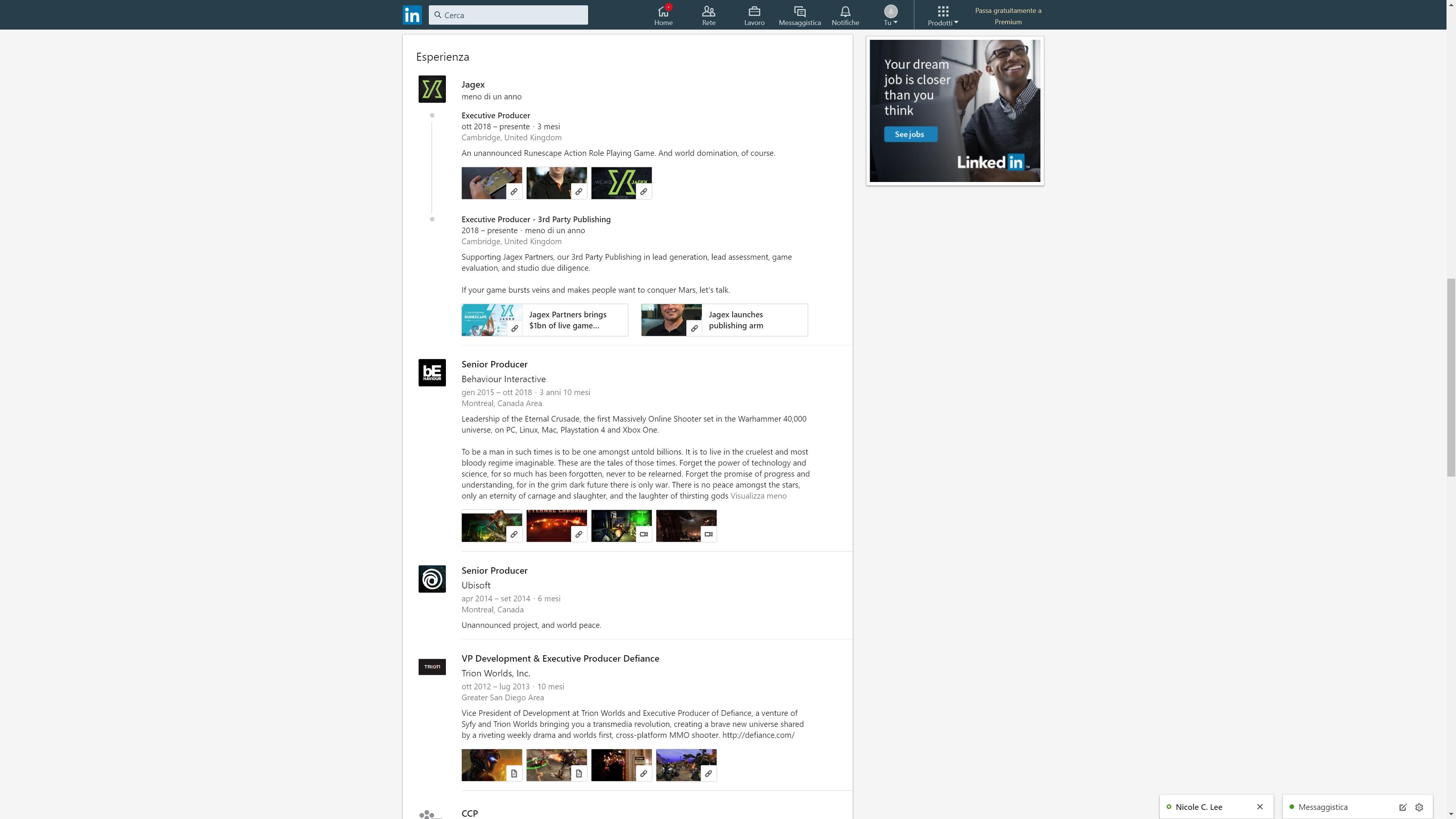 LinkedIn RuneScape
