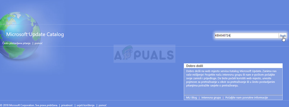 Microsoft Update-Katalog