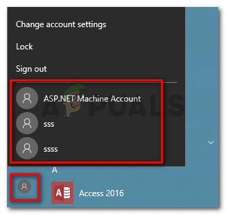 Using an admin user account