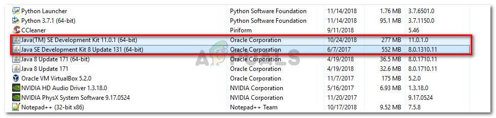 Uninstalling Java Development Kit