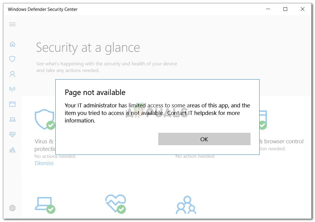 Windows Defender Error