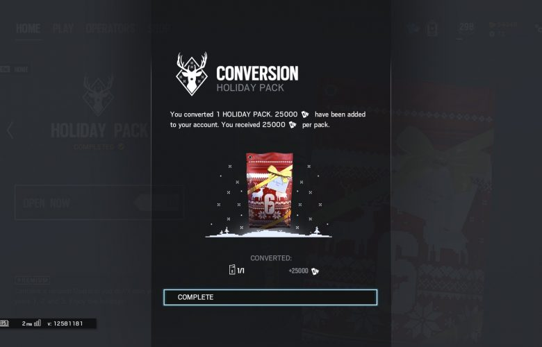 Holiday Pack Conversion