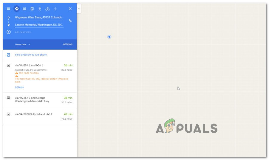 Fix: Google Maps Not Working in Chrome - Appuals.com on enable google earth street view, google street view app, google search maps street view, google earth maps street view, google maps street view germany, google maps street view funny, 360 street view, google earth live view, google earth 360 view, mapquest street view, google map street level,