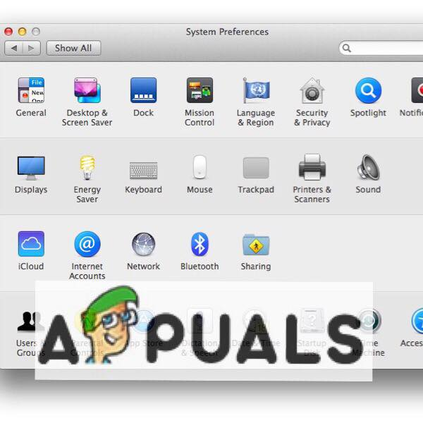 System Preferences on Macc