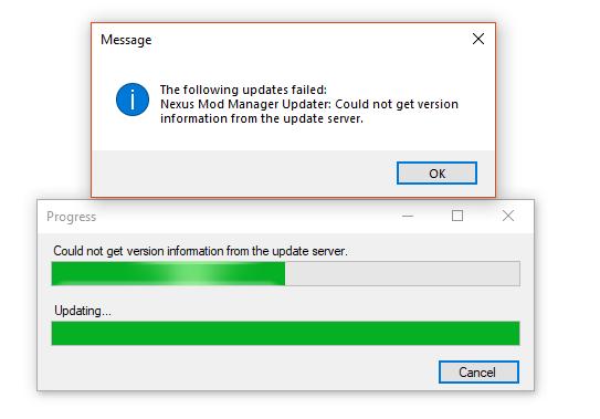 download error tranferring mod organizer