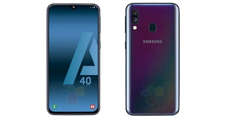 Galaxy A40 Press Render