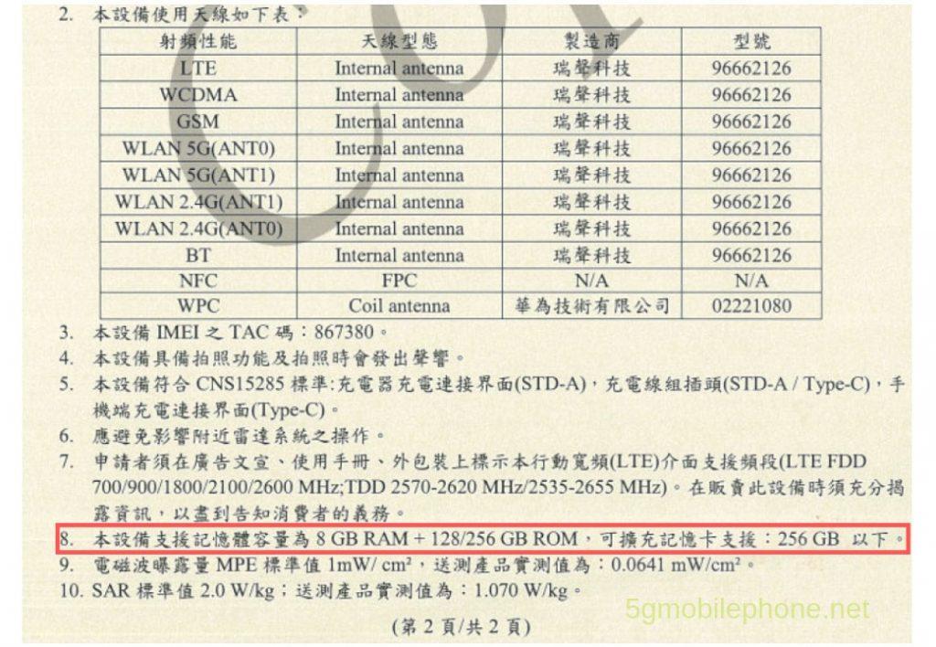 Huawei P30 Pro NCC