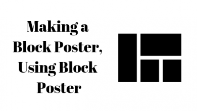 Photo of How to Use Block Poster