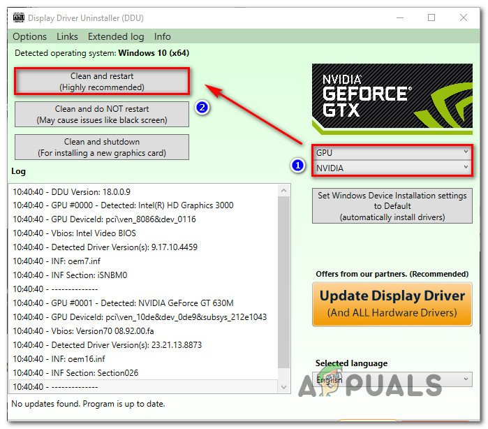 Fix: GeForce Experience Error Code 0x0001 - Appuals com