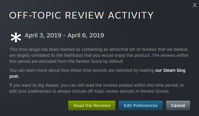 Steam Counters Borderlands Review Bombing, Over 4000