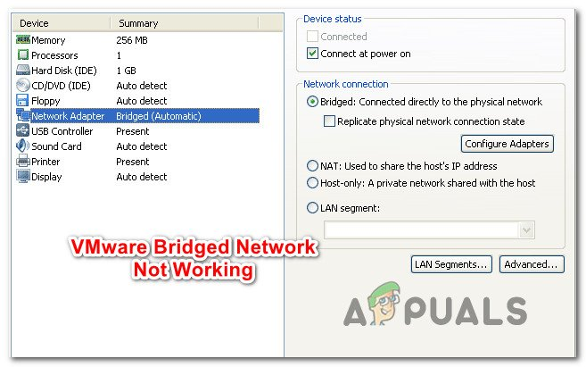 Fix: VMware Bridged Network not Working - Appuals com