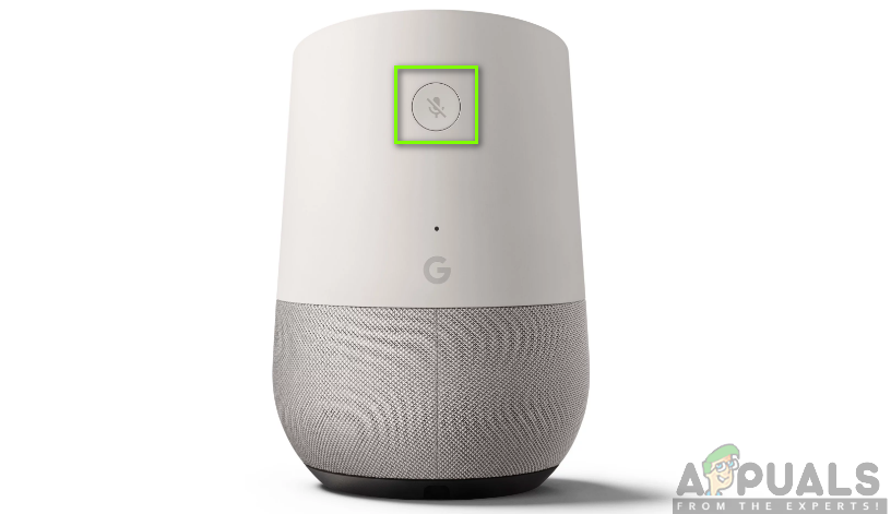 Reset button for Google Home