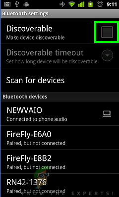discoverable mode
