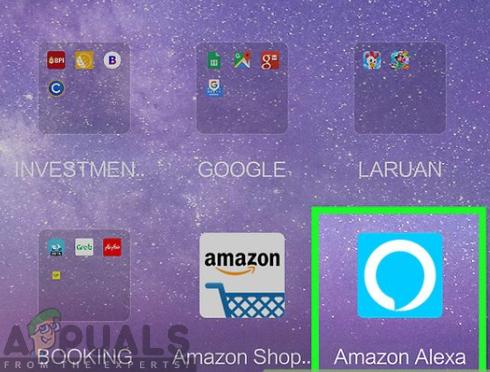 opening Amazon Alexa