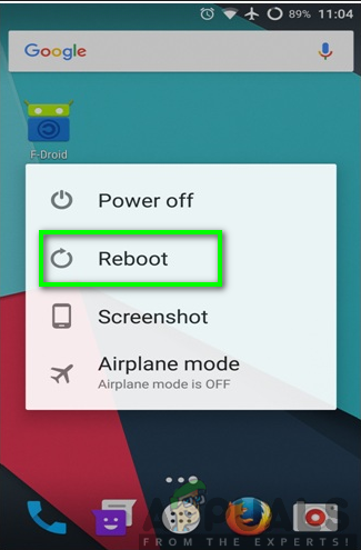 Rebooting your phone