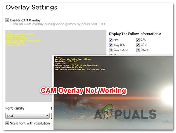 How to Fix CAM Overlay not Working - Appuals com