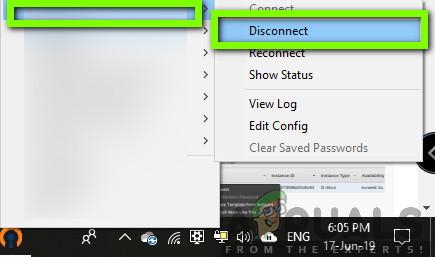 Disconnecting Open VPN
