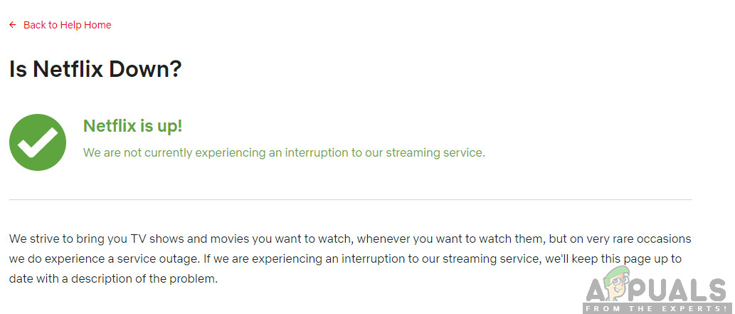 Checking Netflix Server Status