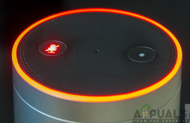 Alexa Orange Flashing Light