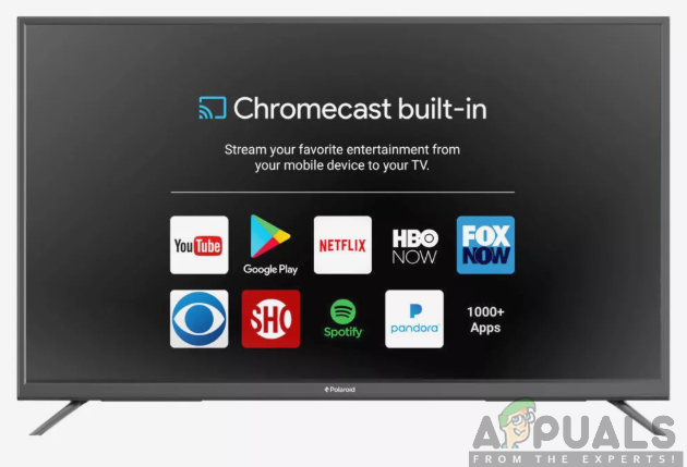 A TV with Chromecast built-in