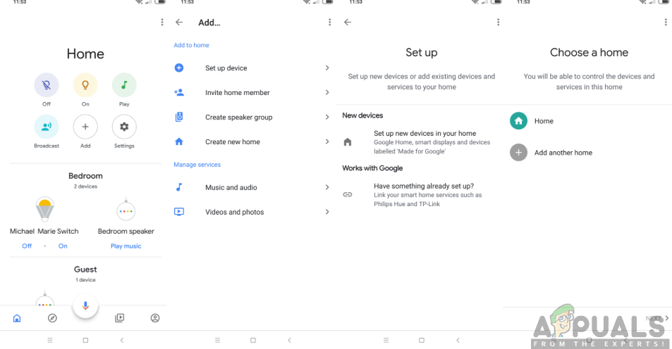 Setting up a Google Home app