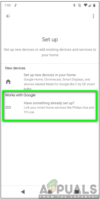 Selecting the works with Google Option