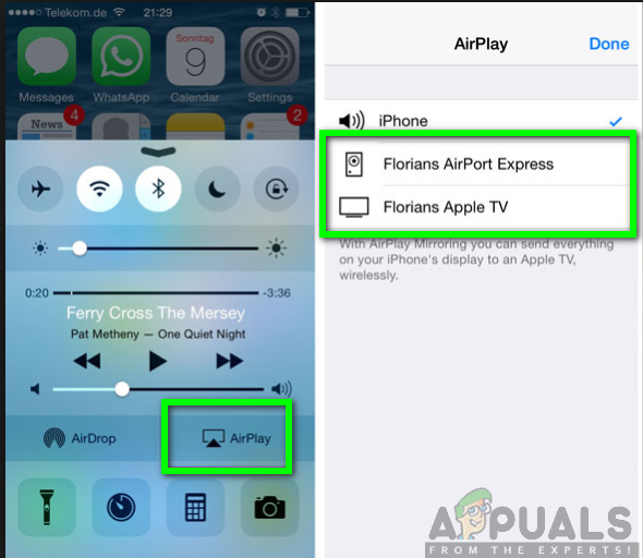 Connecting iPhone to Apple TV using Airplay