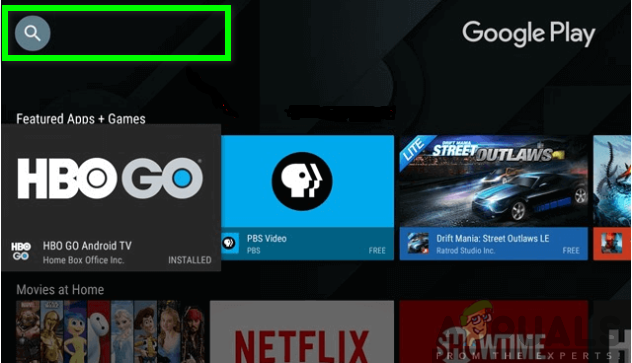 Searching for Kodi in the Search bar