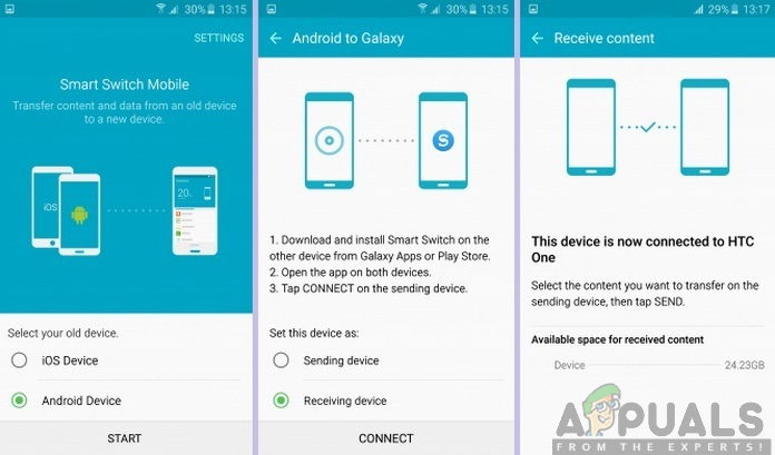 Öffnen der Smart Switch App