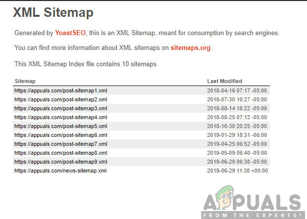 Using Sitemap.XML