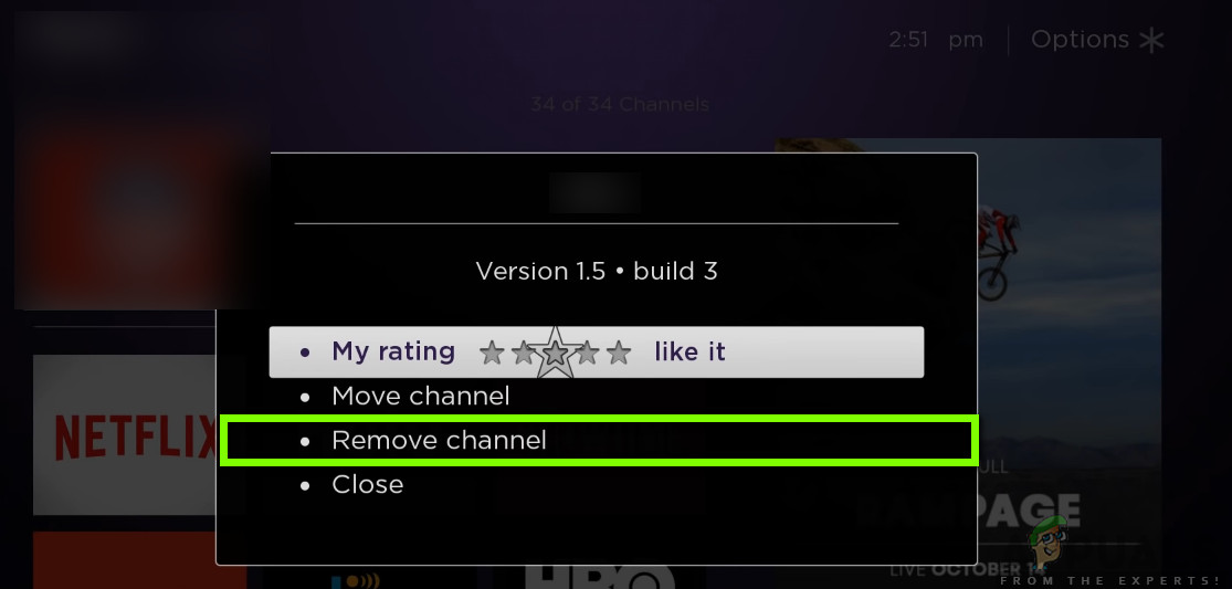 Removing Prime Video Channel